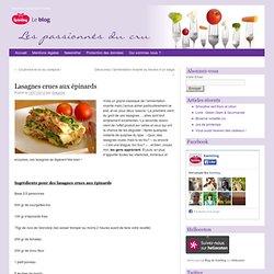 Lasagnes crues aux épinards » Mixer Deshydrater Crudites