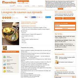 Lasagnes de saumon aux épinards : Recette de Lasagnes de saumon aux épinards