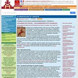 AGROBIOSCIENCES 11/02/13 Lasagnes de cheval : les ingrédients du scandale.