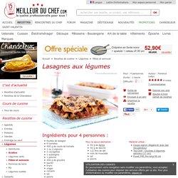 Lasagnes aux légumes - Fiche recette avec photos