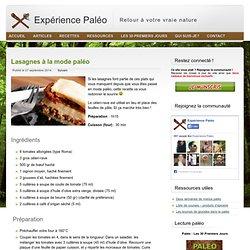 Lasagnes à la mode paléo