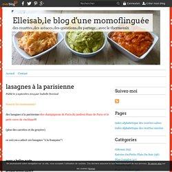 lasagnes à la parisienne