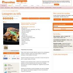 Lasagnes au tofu : Recette de Lasagnes au tofu