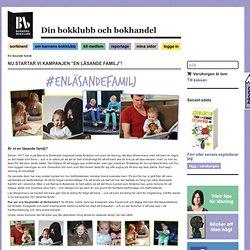 En läsande familj - Barnens Bokklubb