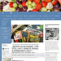 Besök av blivande 1:or. Följ mitt arbete kring läseboken Livet i bokstavslandet till hösten.