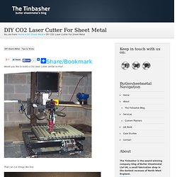 DIY CO2 Laser Cutter For Sheet Metal | The Tinbasher Sheet Metal Blog