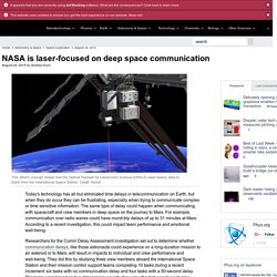 NASA is laser-focused on deep space communication