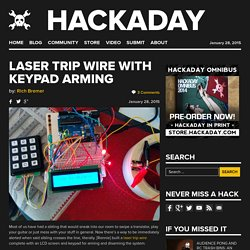 Laser Trip Wire With Keypad Arming