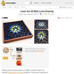 Laser Cut 3D Math Lotus Drawing: 12 Steps
