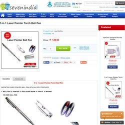 5 in 1 Laser Pointer Torch Ball Pen