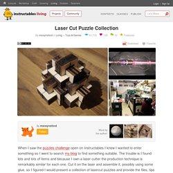Laser Cut Puzzle Collection: 13 Steps