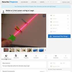 Make a Line Laser using a Lego by cdmacy