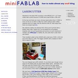 Lasercutter - miniFabLab