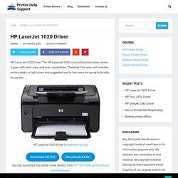 HP LaserJet 1020 Driver Download Software - Printer Help