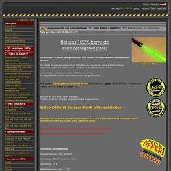 Laserpointer kaufen 100% Leistung TOP QUALITÄT: 200 mW