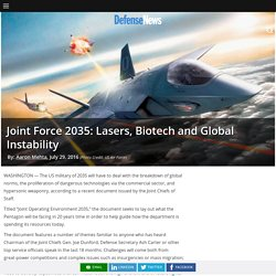 Lasers, Biotech & Global Instability