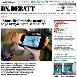 """""""Sämre läsförståelse naturlig följd av nya digitalsamhället"""""""