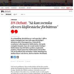 """""""Så kan svenska elevers läsförståelse förbättras"""""""