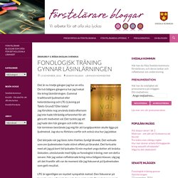 Fonologisk träning gynnar läsinlärningen
