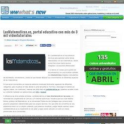 LasMatematicas.es, portal educativo con más de 3 mil videotutoriales