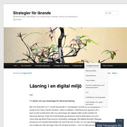 Läsning i en digital miljö