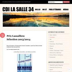 Prix Lassallien: Sélection 2013/2014