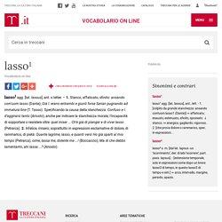lasso¹ in Vocabolario - Treccani
