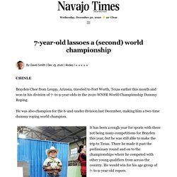 7-year-old lassoes a (second) world championship - Navajo Times