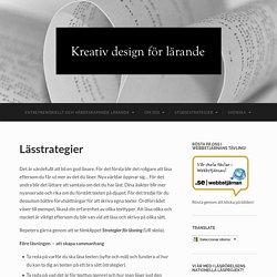 Lässtrategier – kreativdesignförlärande