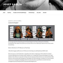 Lässtrategier | Josef Sahlin