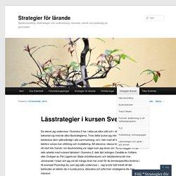 Lässtrategier i kursen Svenska 2