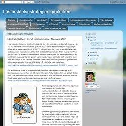 Lässtrategilektion i ämnet Idrott och hälsa - Allemansrätten