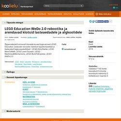 LEGO Education WeDo 2.0 robootika ja arendavad klotsid lasteaedadele ja algkoolidele : Koolielu