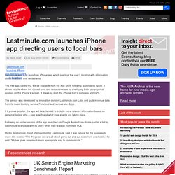 Lastminute.com launches iPhone app directing users to local bars