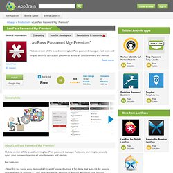 LastPass Password Mgr Premium*