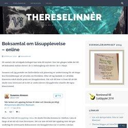 Boksamtal om läsupplevelse – online – ThereseLinnér