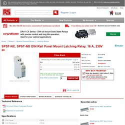 Buy Latching Relays SPST-NC, SPST-NO DIN Rail Panel Mount Latching Relay, 16 A, 230V ac Finder 20.23.8.230.0000 online from RS for next day delivery.