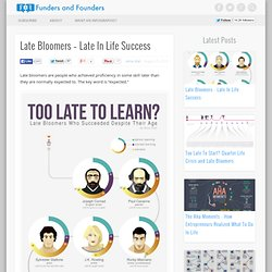 Late Bloomers - Late In Life Success