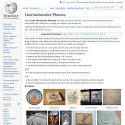 Liste lateinischer Phrasen