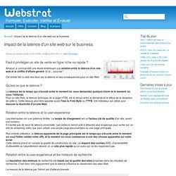 Impact de la latence d'un site web sur le business
