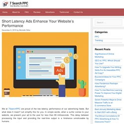 Short Latency Ads Enhance Your Website's Performance - 7Search PPC