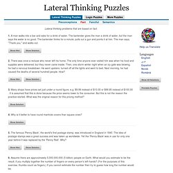Lateral Thinking Brain Teasers - Fact - StumbleUpon