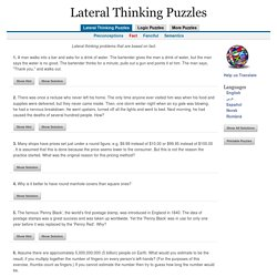 Lateral Thinking Puzzles - Fact