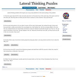 Lateral Thinking Problems - Semantics
