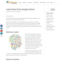 Latest News On the Google Algorithm Updates - Jan 2016
