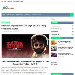 """Latest News Bollywood Movie """"Kabir Singh"""" Box Office 1st Day Collection RS. 15 Crore"""