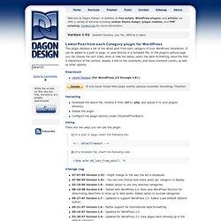 Latest Post from each Category plugin for WordPress · Dagon Desi