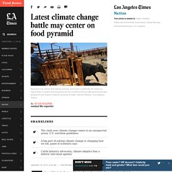 Latest climate change battle may center on food pyramid