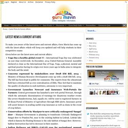 Latest News & Current Affairs