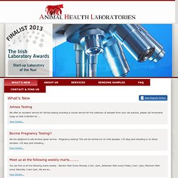 Latest News and Events - Animal Health Labs